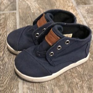 Toddler TOMS velcro sneakers, navy blue, size 5